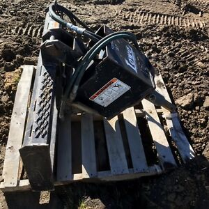"Auger drive attachment for skid steer and 12"" drill bit"