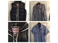 Men's Superdry Navy Gilet and Superdry shirts