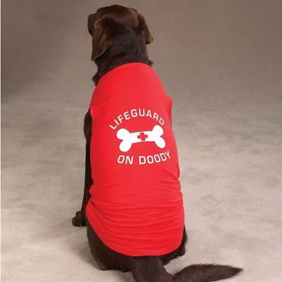 Dog Shirt - Lifeguard on Doody Dog Tank - Lifeguard on Doody Dog - Dog Lifeguard Shirt