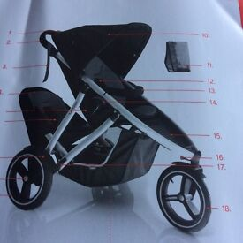 Double Phil & teds Vibe stroller & accessories