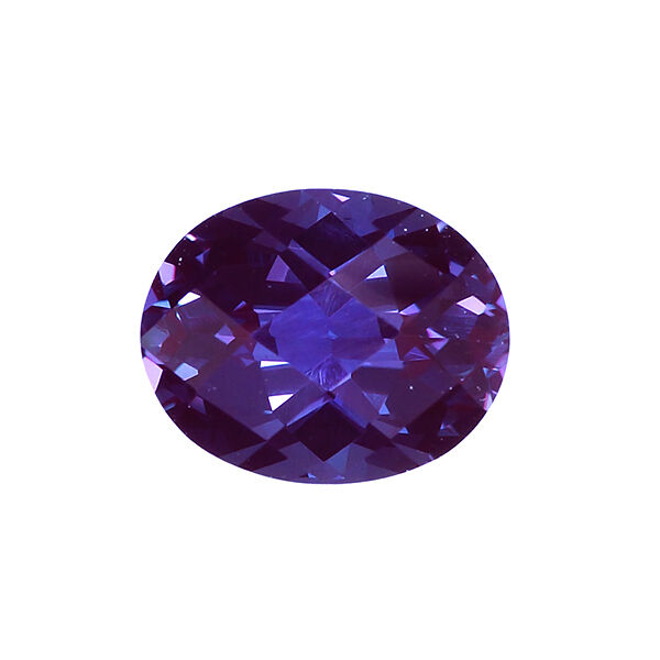 Lab Created Pulled Alexandrite Chrysoberyl Oval Checkerboard Top (6x4mm-30x20mm)