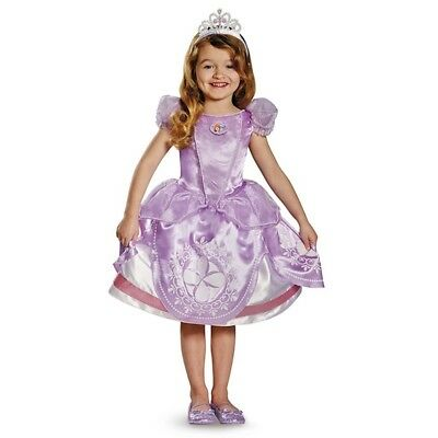 Disney Sofia the First Deluxe Toddler/Child Costume, Child size 4-6](Baby Sofia The First Costume)