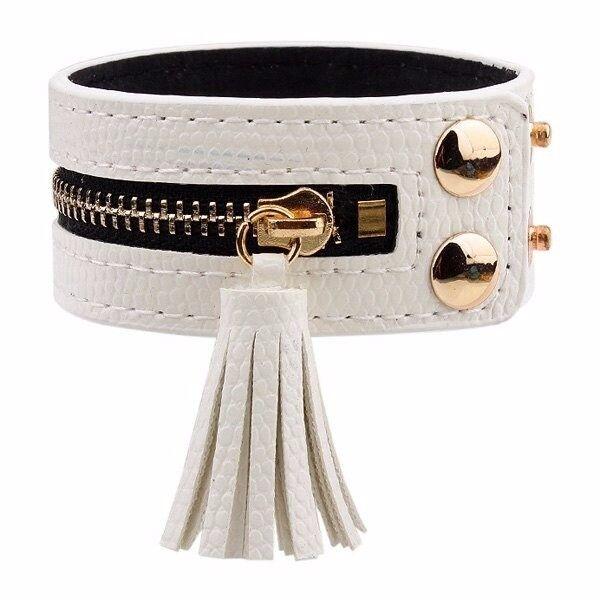 Zip Faux Leather Bracelet