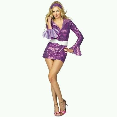 RG Costumes 81678 Fever-Disco Dress Sexy Holiday Halloween Cosplay  (Violet;Med) - Disco Fever Halloween Costumes