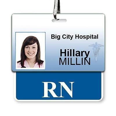 RN Horizontal Badge Buddy with Blue Border BB-RN-BLUE-H by Specialist ID