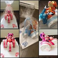 Diaper cake tricycle embroidery crochet printing baskets