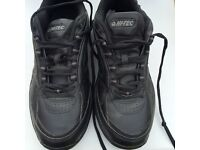 Black hi-tec training shoes