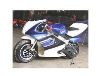 Mini Moto Racing bike. 49cc Great fun, Very Fast. FREE DELIVERY