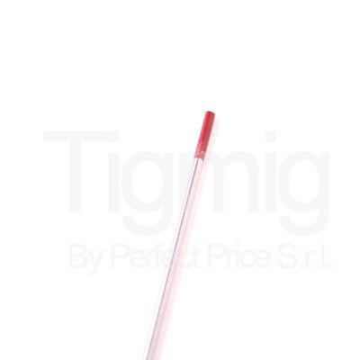 ELECTRODO TUNGSTENO ROJO ACERO INOXIDABLE 2.4 MM TIG INVERSOR SOLDADURA TIG