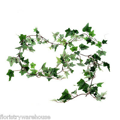 Artificial Silk Ivy Garland Small Leaf Dark Green 180cm/6ft