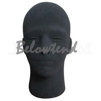 Mannequin Utility Styrofoam Foam Manikin Male Head Model Wig Glasses Black