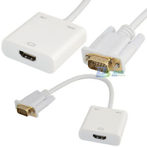 VGA Male to HDMI Female Video Adapter with Audio Gold Plated 1080P for PC HDTV