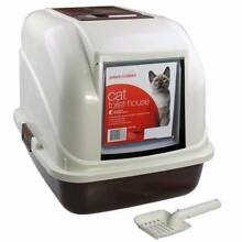 Portable Hooded Cat Toilet Litter Box Tray House WithHandle Scoop Oakleigh Monash Area Preview