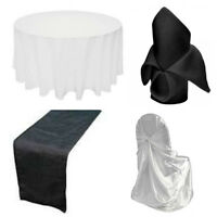 wedding and  party  chair covers tablecloths rentals
