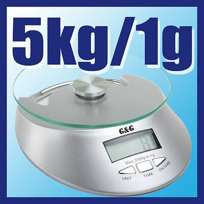 G&g Ke-s 5kg1g Küchenwaage Briefwaage Feinwaage Digital-waage