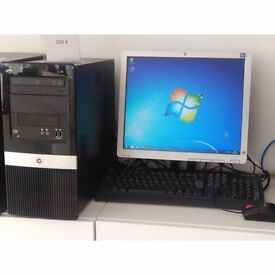 "HP Pro AMD PC Dual Core with 17"" Screen + Windows 7 - Can Deliver"