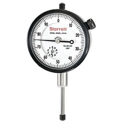 Starrett 25-441j Dial Indicator 1.000 Range 0.001 Graduation