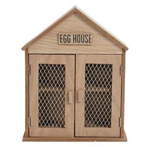 SHABBY CHIC RUSTIC WOODEN CHICKEN HEN EGG HOLDER HOUSE STORAGE KITCHEN CABINET