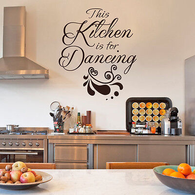This Kitchen is for Dancing Wall Sticker Quote Dining Room Vinyl Home Decor Idea - Dance Decorations Ideas