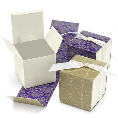- NEW HBH Gold, Purple and Cream Reversible Favor Boxes 25 pc.