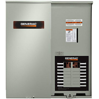 (Generac 100-Amp Outdoor Automatic Transfer Switch w/ 16-Circuit Load Center)