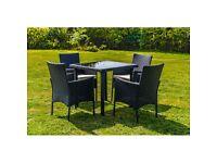 5 Piece Rattan Dining Garden Furniture Set