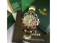 Red And black bezel cola all stain mens automatic watch rolex boxed with papers
