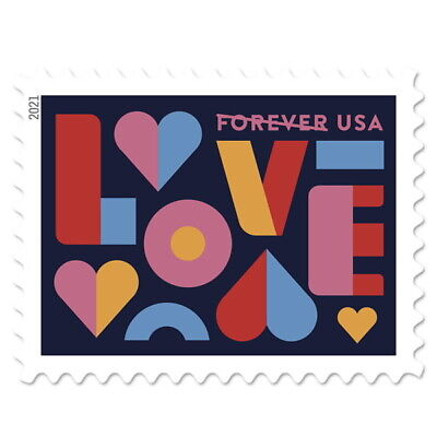 40 (2 Panes of 20) USPS LOVE STAMPS USA Forever Stamp