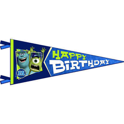 Monsters University Birthday Party Supplies Banner