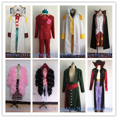 One Piece Anime Halloween Costumes (Anime One Piece Halloween Cosplay Costume Adult Cloak Jacket Coat Outfit)