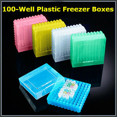 2-inch 100-well Cryogenic Vials Microcentrifuge Tubes Storage Boxes 20x