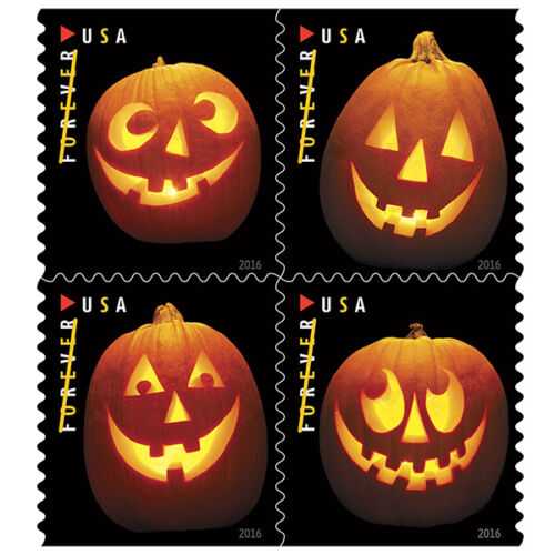 USPS New Jack-o-lanterns booklet of 20