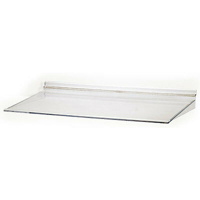 Pack Of 4 Retail Acrylic Molded Slatwall Shelf - 16w X 10d