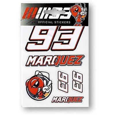 New Marc Marquez  Small Sticker Set 2  - New Season Official Merchandise