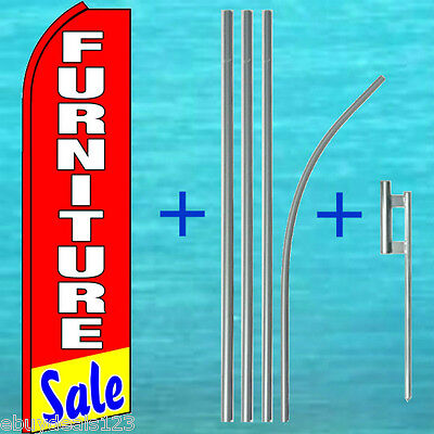 Furniture Sale Flutter Flag Pole Mount Kit Tall Feather Swooper Banner Sign