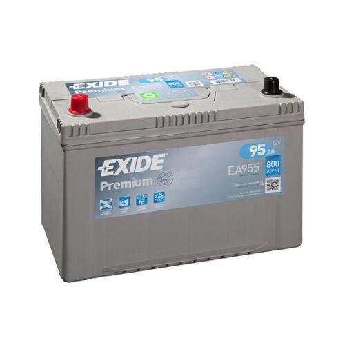 1x Exide Premium 95Ah 800CCA 12v Type 250 Car Battery 4 Year Warranty - EA955