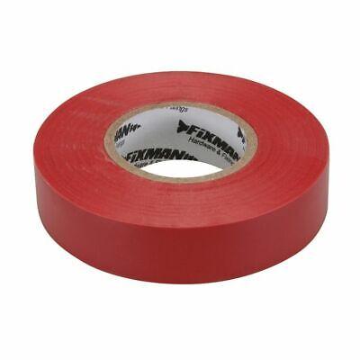 FIXMAN Cinta Aislante Installationsband Adhesiva Eléctrico 19mm X 33m Rojo