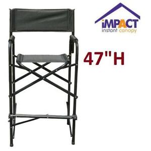 OB IMPACT CANOPY DIRECTORS CHAIR 460019902 249871380 BLACK TALL 24LX21WX47H OPEN BOX
