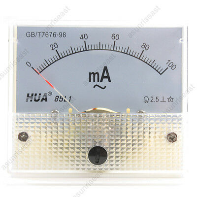 1 Ac100ma Analog Panel Apm Current Meter Ammeter Gauge 85l1 Ac0-100ma