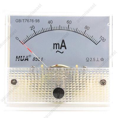 1 Ac100ma Analog Panel Apm Current Meter Ammeter Gauge 85l1 Ac0-100ma