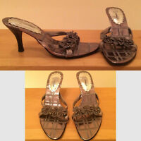 Almost new kitten heel sandals - $10