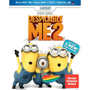 Despicable Me 2 Blu-ray 3D + Blu-ray + DVD + DC/UV - NEW
