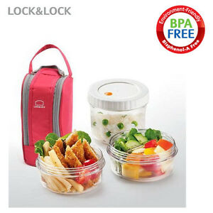 lock lock bpafree tritan circle bento lunch box set with insulated bag. Black Bedroom Furniture Sets. Home Design Ideas