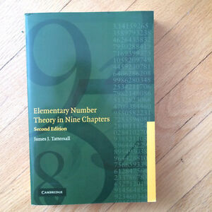 Elementary Number Theory in Nine Chapters Gatineau Ottawa / Gatineau Area image 1