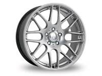 Set of 4 Riva DTM alloys with tyres 17inch 5x112
