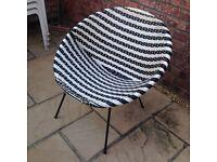 1970's bucket chair (black & white)