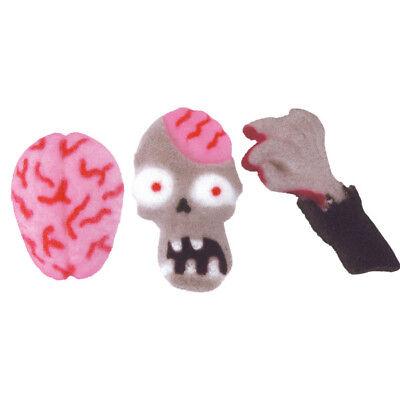 Halloween Zombie Attack Edible Sugar Decorations - 12 Count - 48575 - Edible Halloween Decorations