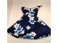Lipsy Bardot Print Skater Dress Size 8