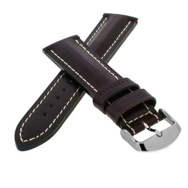 ZEPPELIN Leder Uhrenarmband 22mm braun JZ027 Prägung auf der Schlaufe