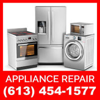 Ottawa Appliance Repairs | Call (613) 454-1577 and get $25 OFF